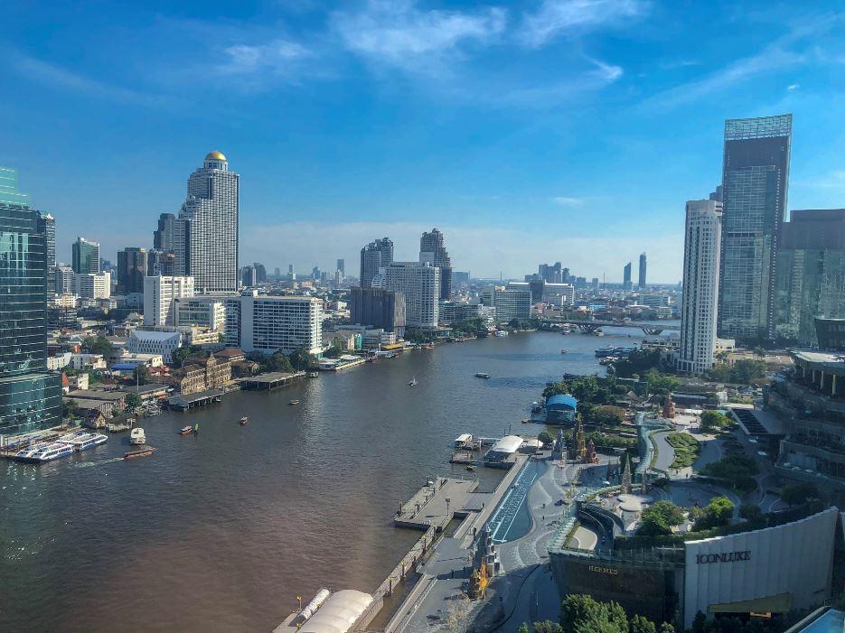 Aussicht auf Fluss vom Hotel Millennium Hilton