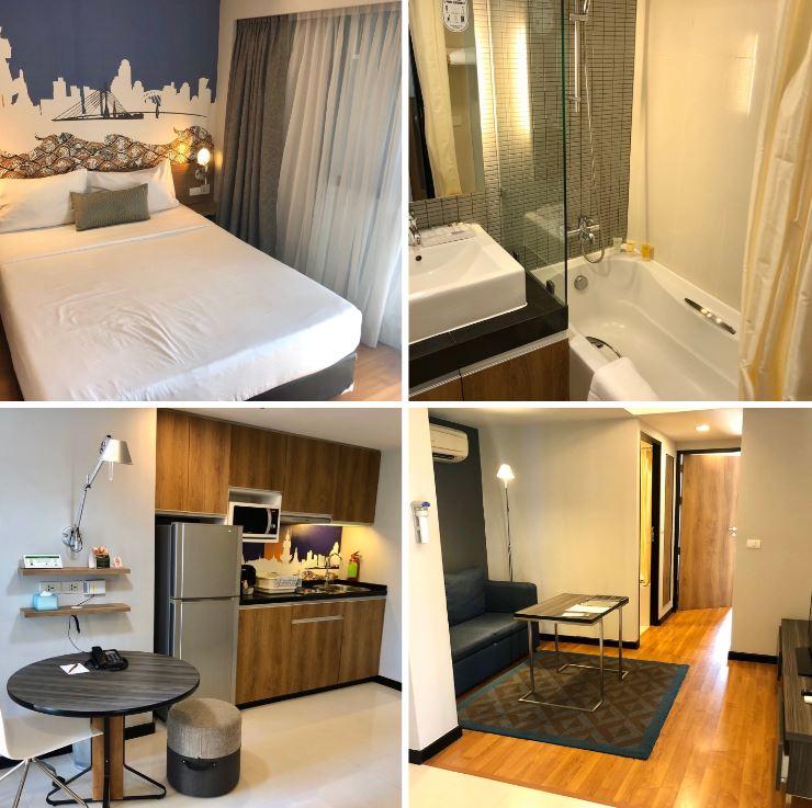 Verschiedene Ansichten des Hotels Citadines Sukhumvit 11 Bangkok