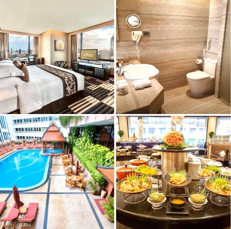 Verschiedene Ansichten des Hotels The Landmark Bangkok