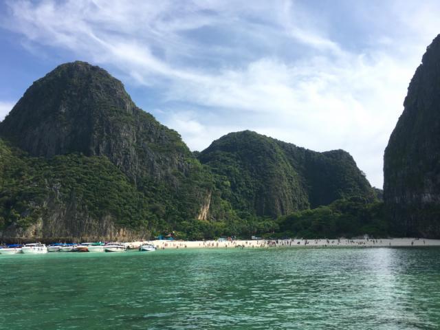 Bekannte Bucht auf Koh Phi Phi