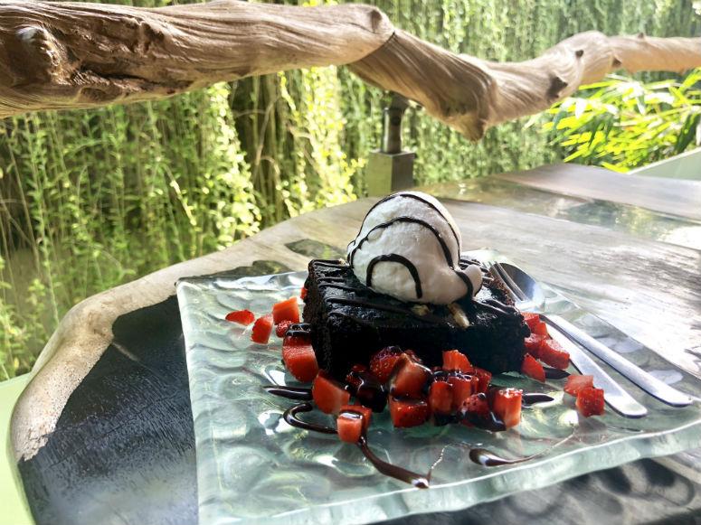 Brownie mit Kokos Eis im Clear Cafe Ubud