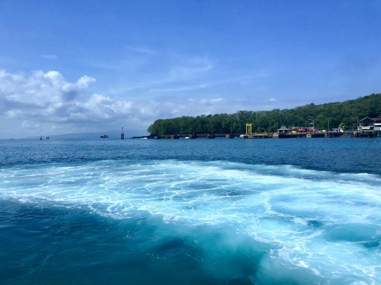 Meer aus Schnellbot nach Gili Trawangan fotografiert
