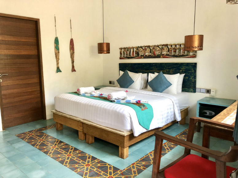 Hotelzimmer auf Gili Trawangan