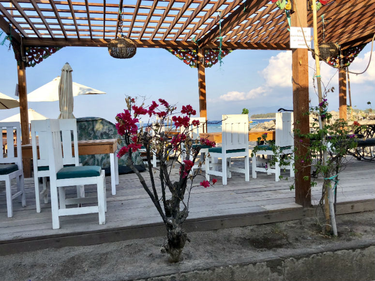 Strandrestaurant auf Gili Trawangan