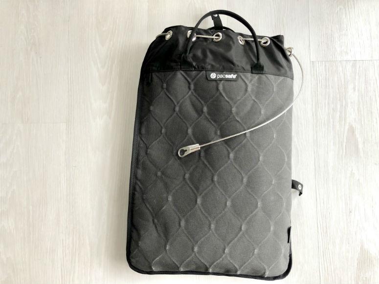 Tragbarer Packsafe für Laptop etc.