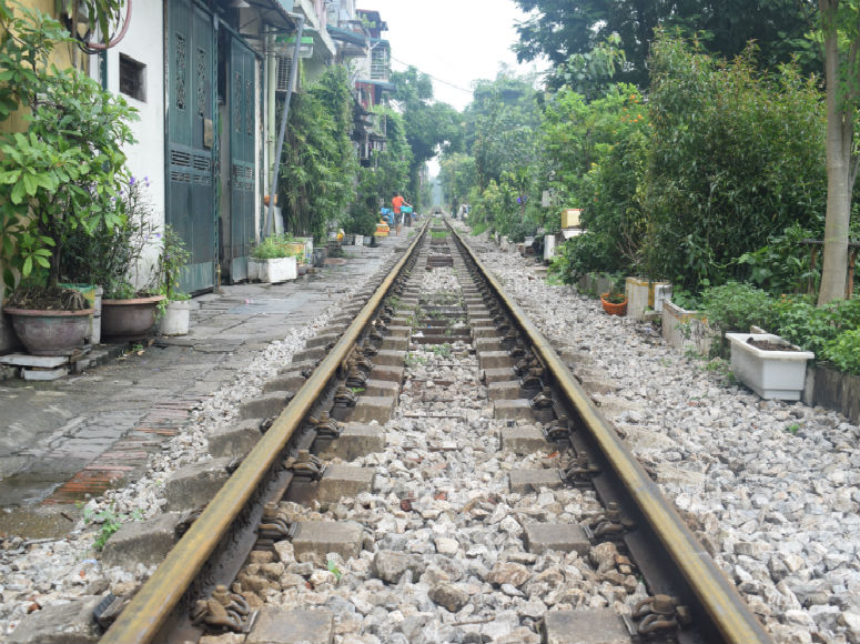 Zuggleis in Hanoi