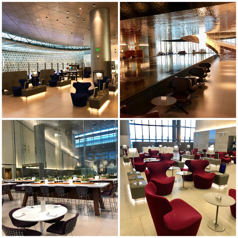 Collage der Lounge in Doha