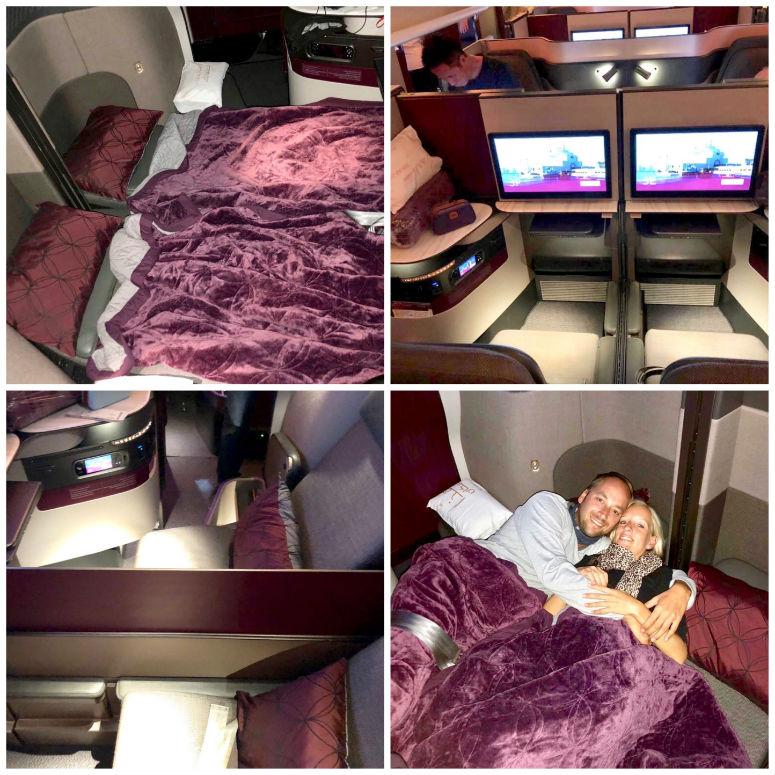 Überblick der Qsuite von Qatar Airways