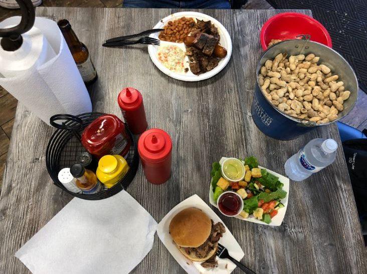 Gedeckter Tisch im Restaurant Big Johns in Page an der Westküste USA