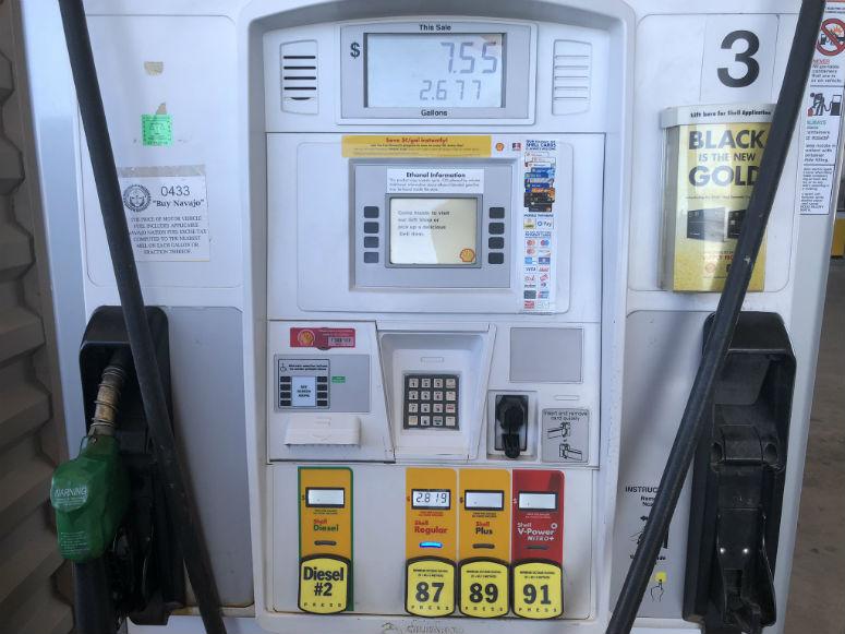 USA Reisetipps, Tanken in Amerika Foto von Tankstelle
