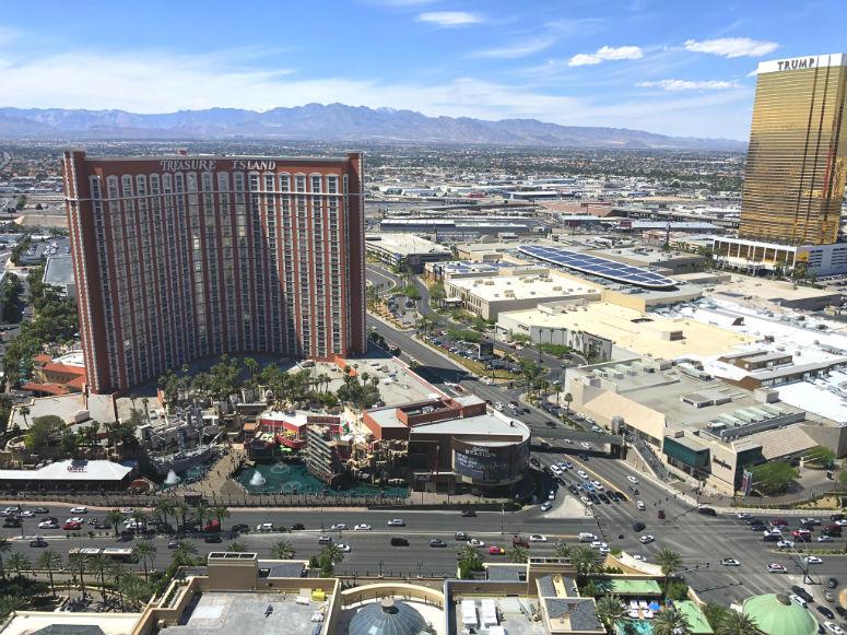 USA Reisetipps zum Verkehr, Las Vegas von oben