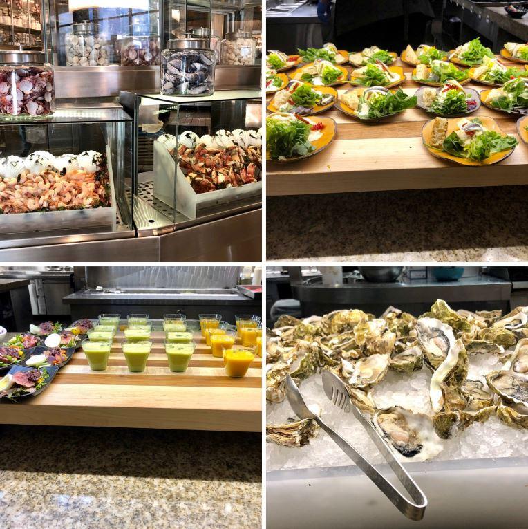 Bacchanal Buffet im Caesars Palace, verschiedene Speisen