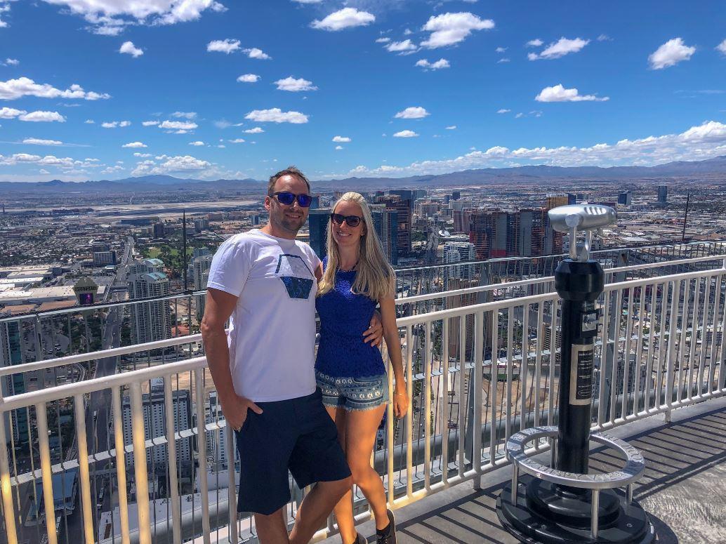 Las Vegas Sehenswürdigkeiten, Pärchen auf Stratosphere Tower