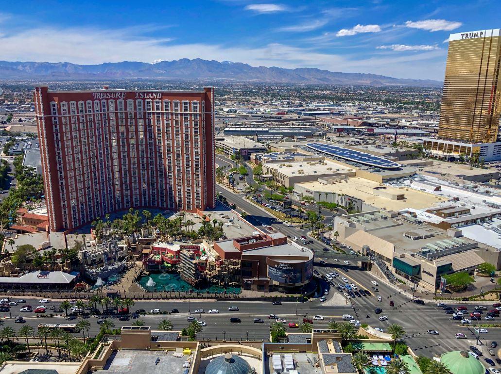Las Vegas Sehenswürdigkeiten von oben