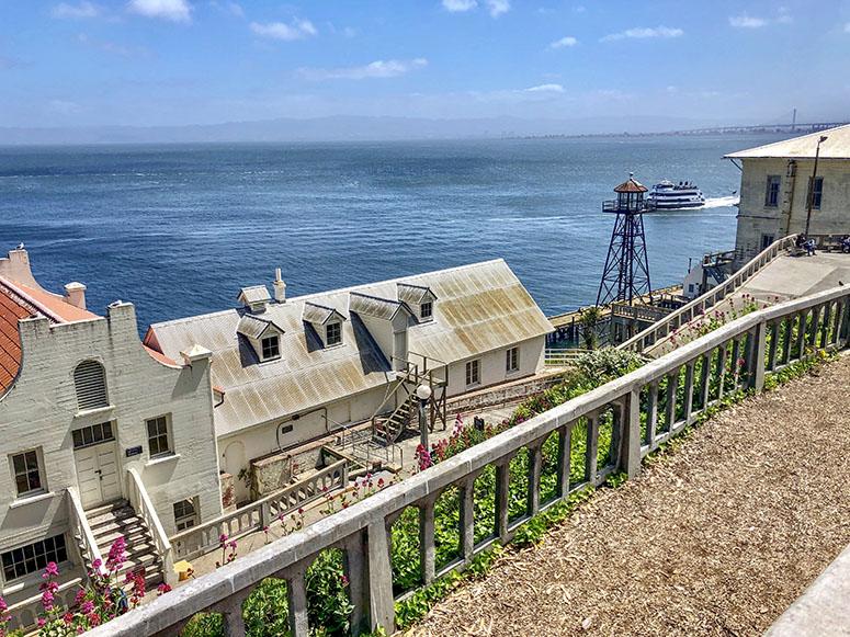 San Francisco Sehenswürdigkeiten, Gefängnis Alcatraz von oben