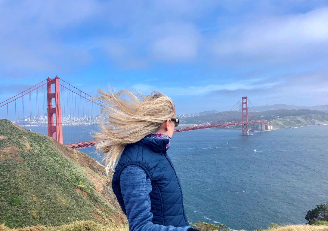 Das Wetter in San Francisco, Blick auf Golden Gate Bridge
