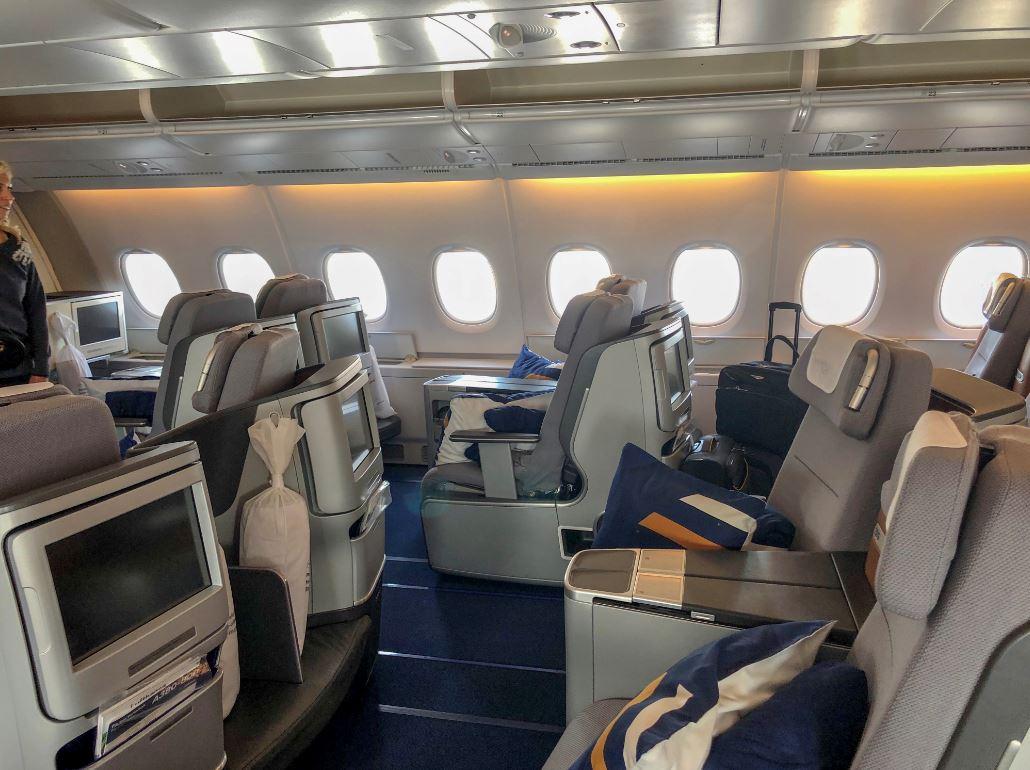 Sitzreihen der Lufthansa Business Class