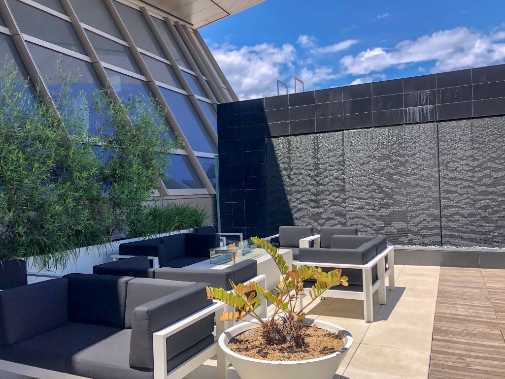 Star Alliance Lounge in Los Angeles, Dachterrasse