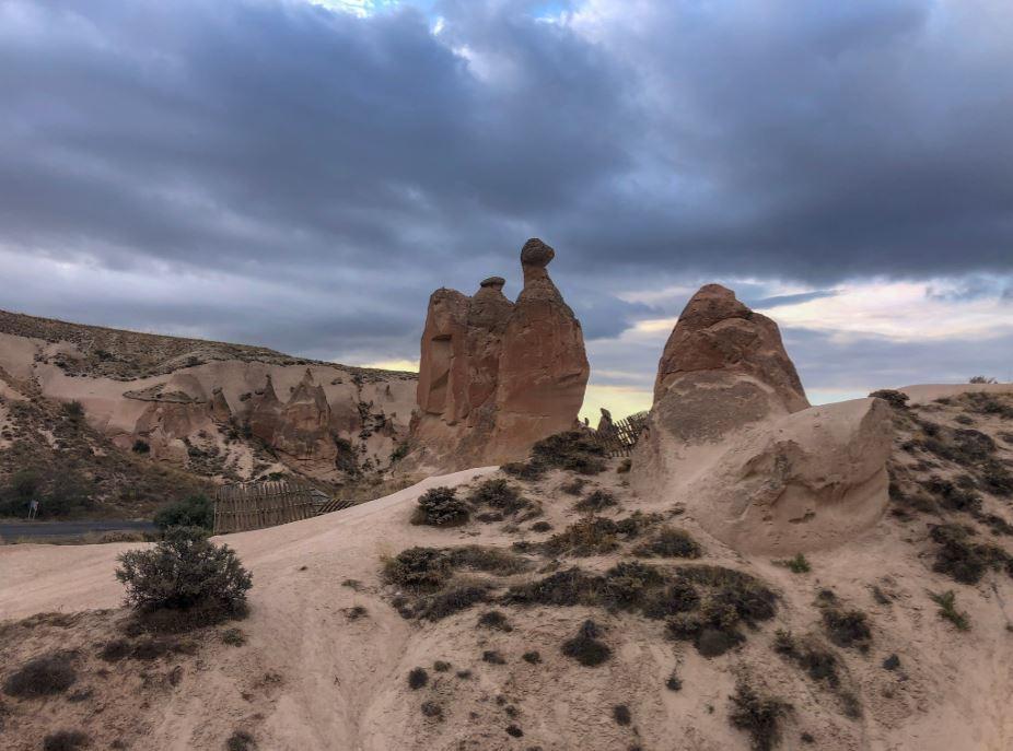 Felsen in Form von einem Kamel im Mönchstal Kappadokien