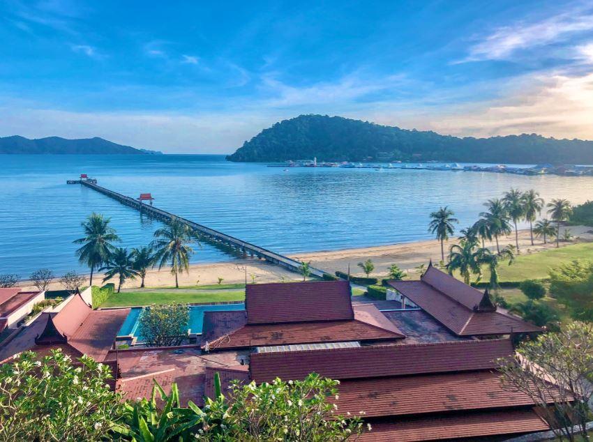 Bang Bao Beach, Blick von oben über Bucht von Bang Bao