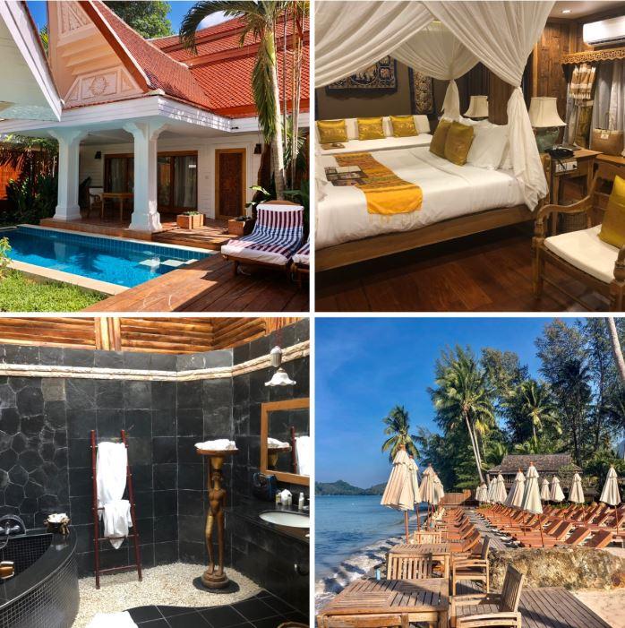 Verschiedene Ansichten des Santhiya Tree Resorts auf Koh Chang