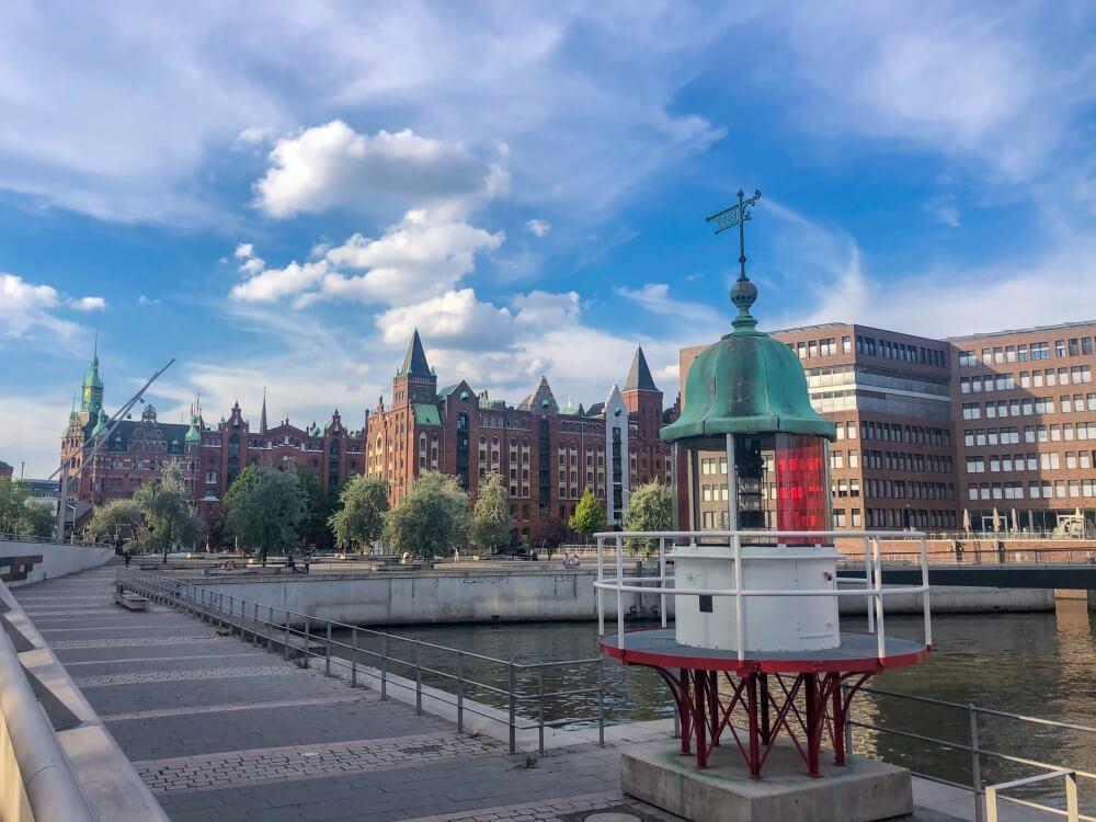 Blick auf Speicherstadt in Hamburg
