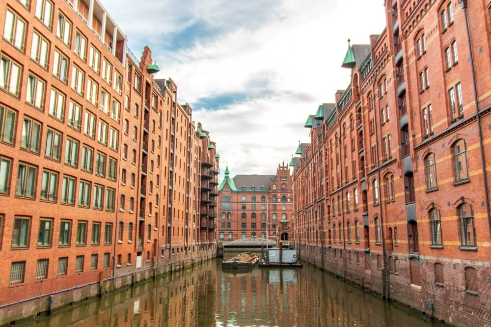 Hamburg Tipps, Blick auf Lagerhäuser in der Speicherstadt