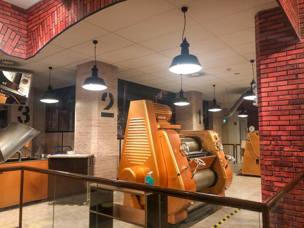 Blick auf Maschine in der Hamburger Schokoladenfabrik