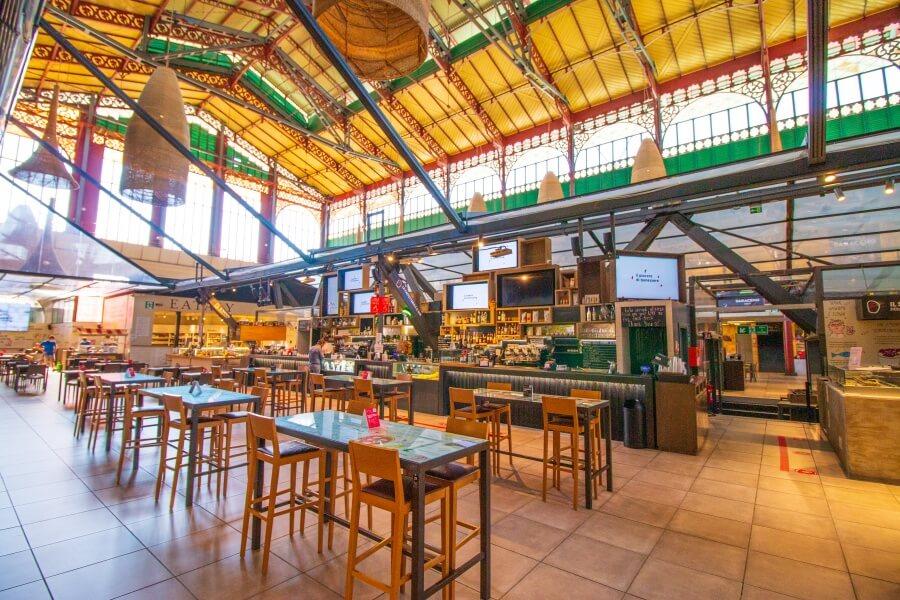 Leere Markthalle des Mercato Centrale in Florenz