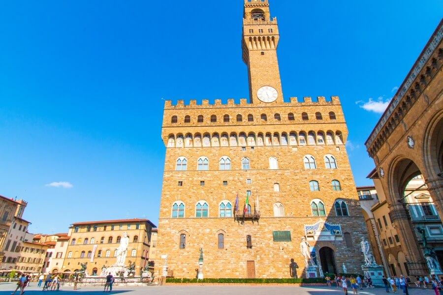 Blick auf Rathaus von Florenz