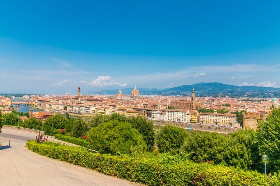Die schönste Aussicht über Florenz vom Piazzale Michelangelo