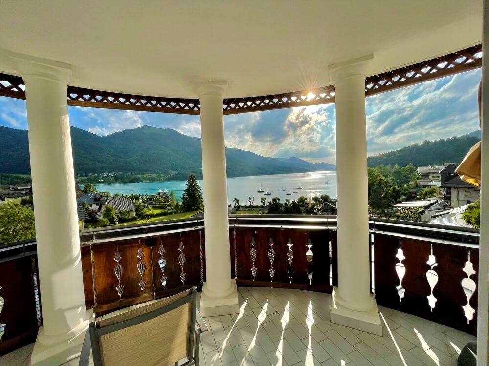 Balkon mit Blick auf Fuschlsee