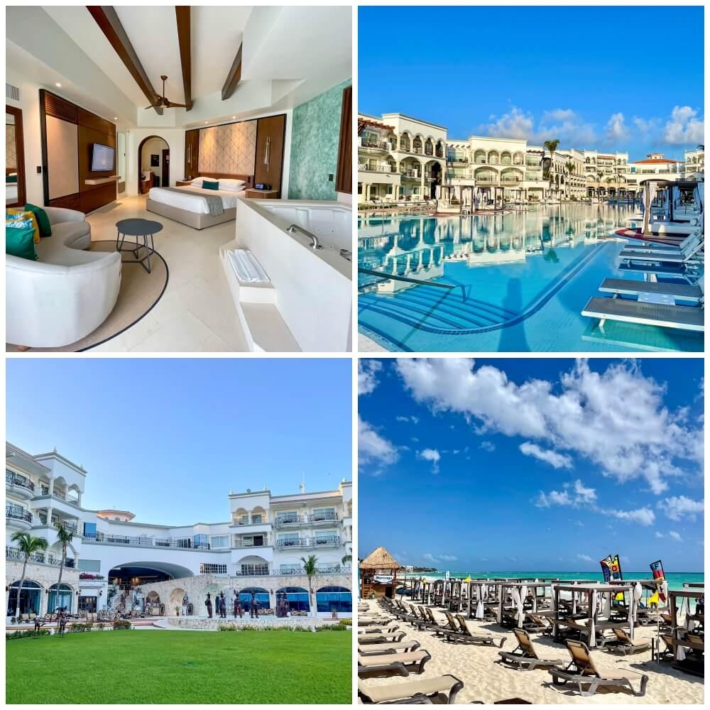 Verschiedene Ansichten des Hilton Hotels in Playa del Carmen