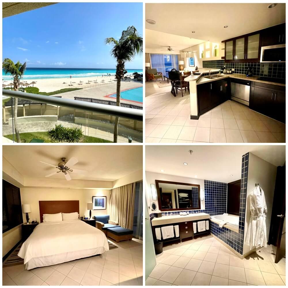 Ferienwohnung mit Küche, Schlafzimmer, Bad und Wohnzimmer in Cancun