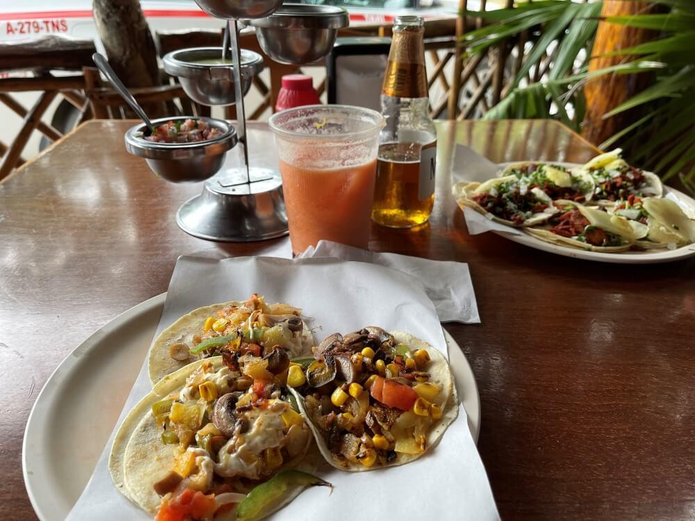 Tacos in Restaurant in Tulum