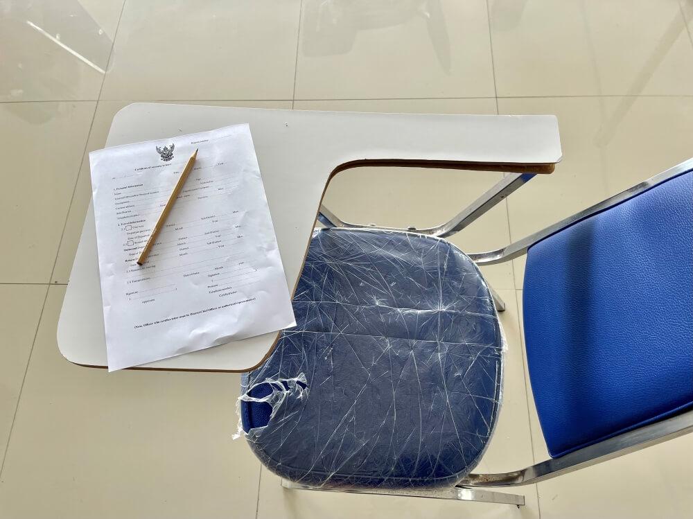 Stuhl, Formular, Stift