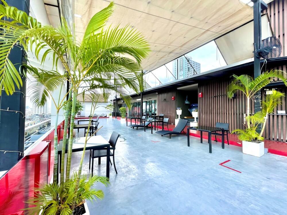 Dachterrasse ASQ Hotel Hi Residence Bangkok