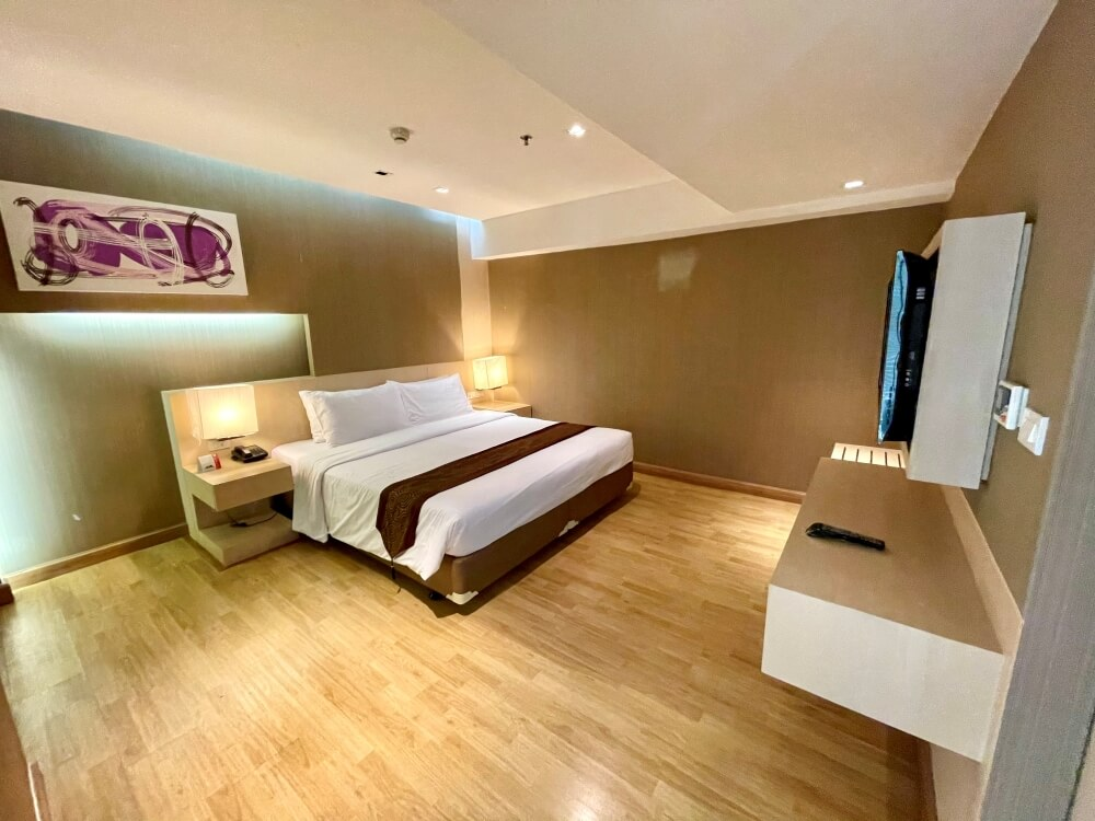 Schlafzimmer im Hotel Hi Residence Bangkok