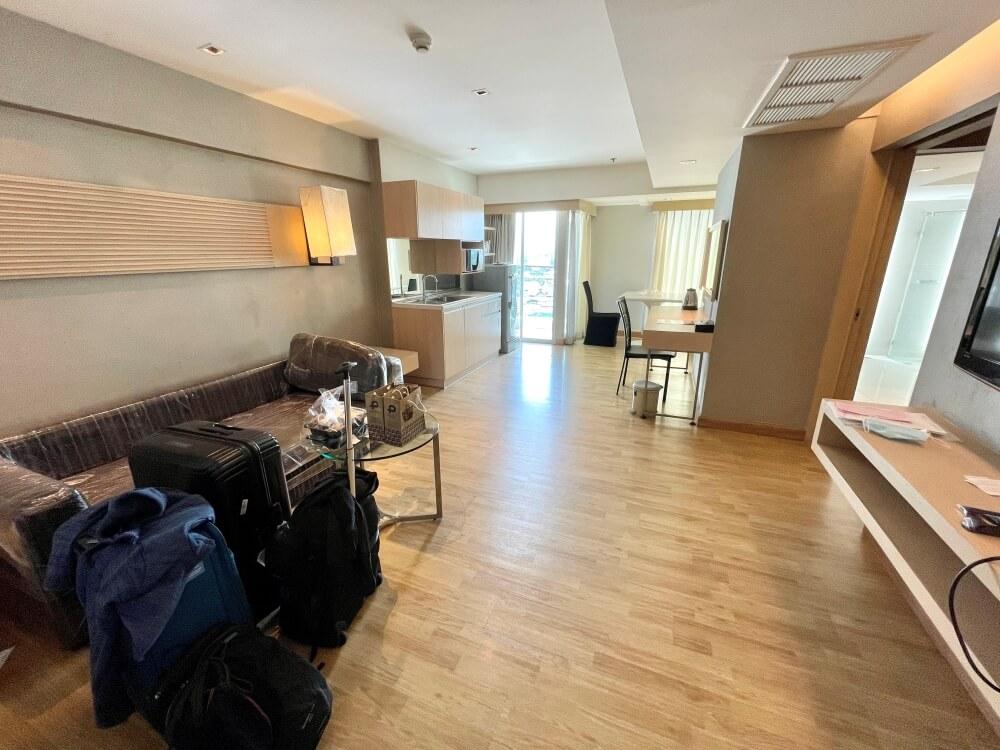 Blick in Wohnung des Hotels Hi Residence Bangkok
