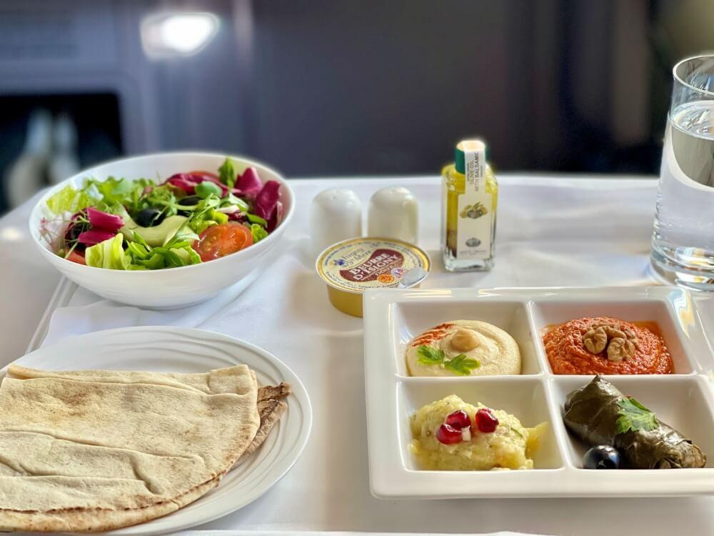 Leckeres Essen bei Emirates