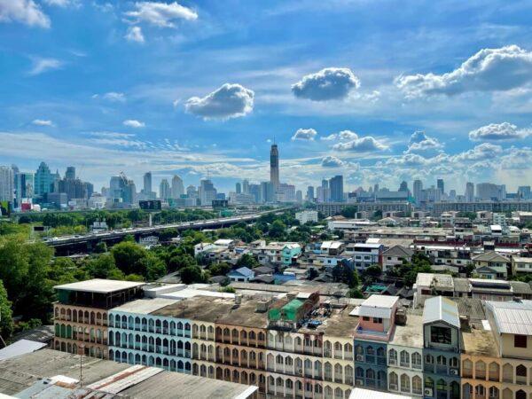 Thailand Einreise und ASQ Hotel, Blick über Bangkok